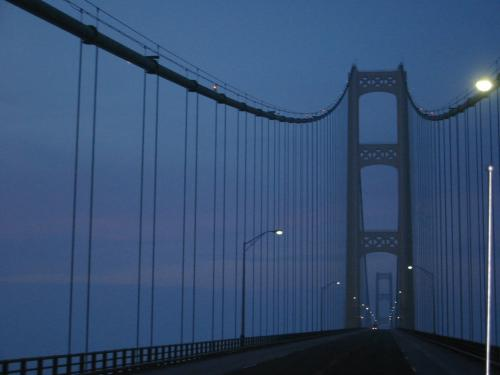 Mackinac bridge at sunrise