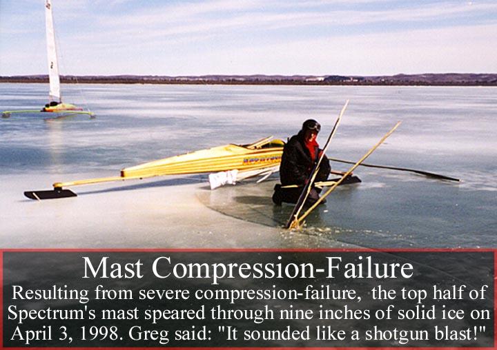 Spectrum suffers severe mast compression failure...