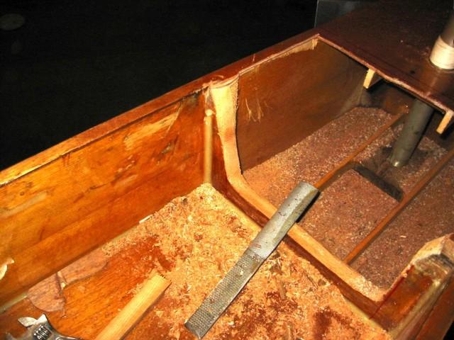 grinding down the bulkhead