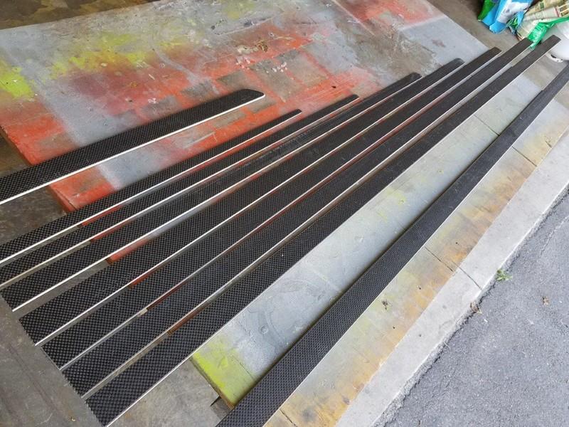 "New set of carbon/basswood battens for C-Skeeter ""Drifter"""