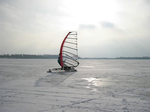 Ice Surfing Buffalo Lake Minnesta
