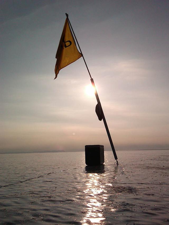 Sun setting on the regatta Friday...