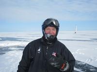 Harper checks the ice