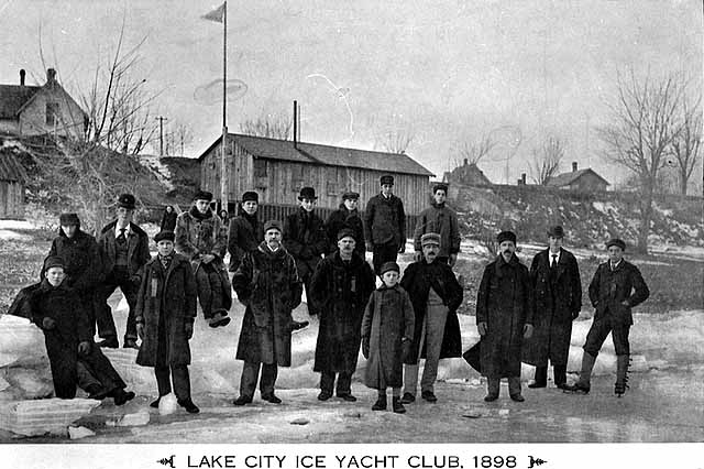 Lakce City Ice Yacht Club 1898