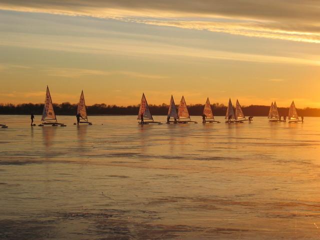 Sunset start on Lake Christina