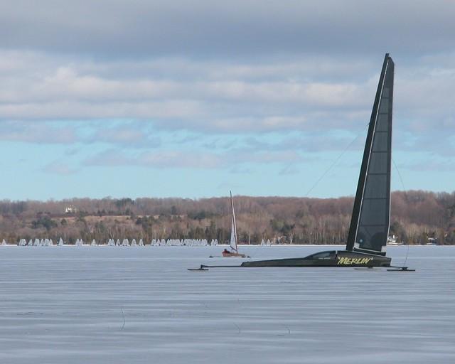 Jack's skeeter Merlin pleasure sailing at the N/A's