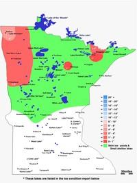 Tuesday 11 28 Minnesota Ice Map